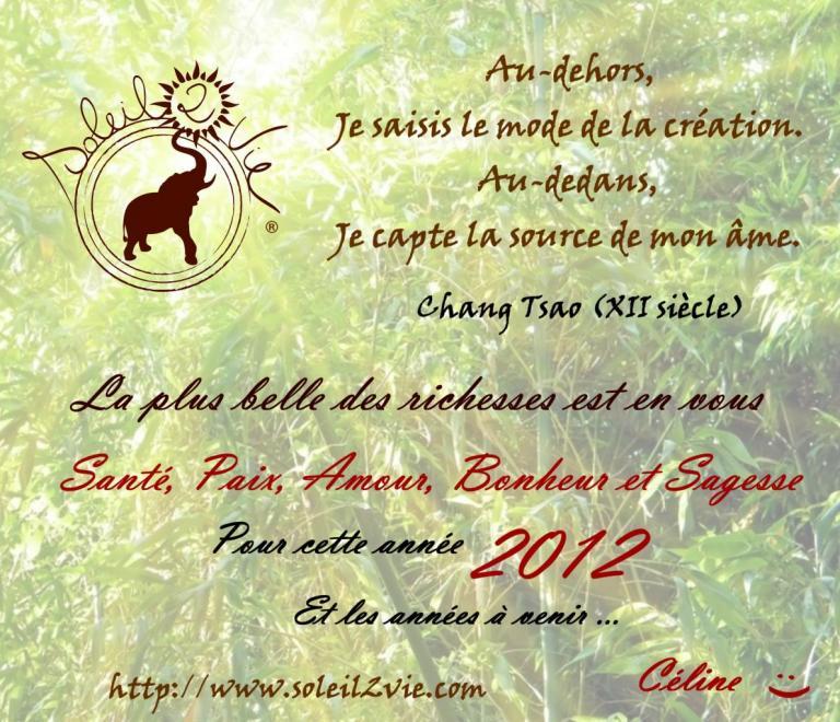VOEUX 2012. Par Soleil2Vie ®