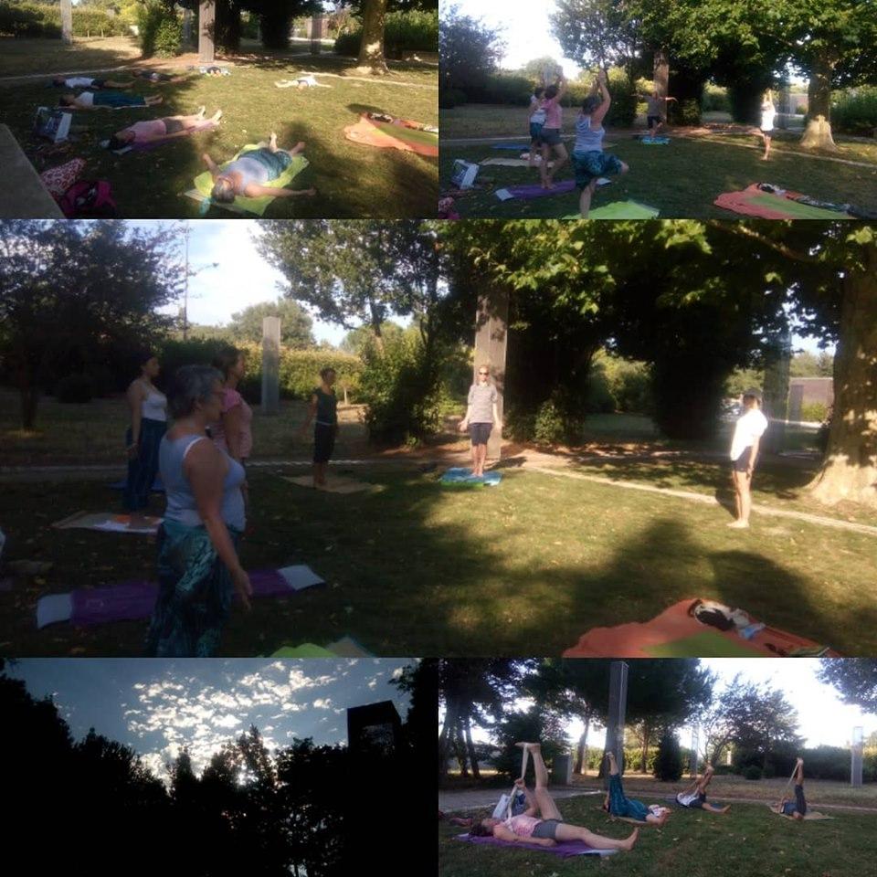 Séance de Yoga en extérieur Sérignan