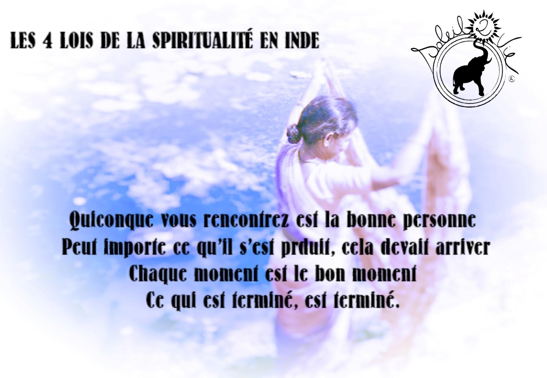 Les 4 loi de la spiritualite en inde soleil2vie